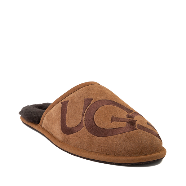 alternate view Mens UGG® Scuff Logo Slipper - ChestnutALT5