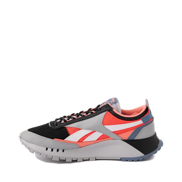 alternate view Mens Reebok Classic Legacy Athletic Shoe - Gray / Black / Neon OrangeALT1