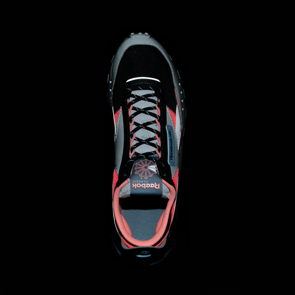 alternate view Mens Reebok Classic Legacy Athletic Shoe - Gray / Black / Neon OrangeALT2B