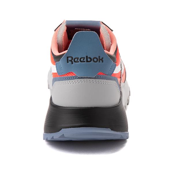 alternate view Mens Reebok Classic Legacy Athletic Shoe - Gray / Black / Neon OrangeALT4