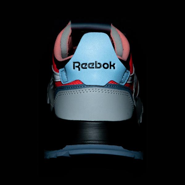 alternate view Mens Reebok Classic Legacy Athletic Shoe - Gray / Black / Neon OrangeALT4B