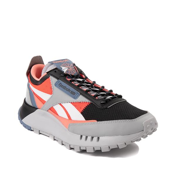 alternate view Mens Reebok Classic Legacy Athletic Shoe - Gray / Black / Neon OrangeALT5