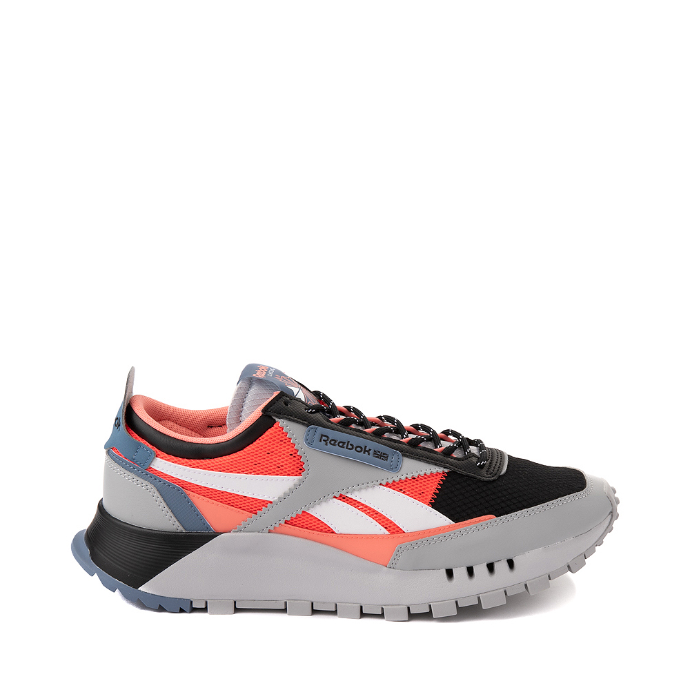 Mens Reebok Classic Legacy Athletic Shoe - Gray / Black / Neon Orange