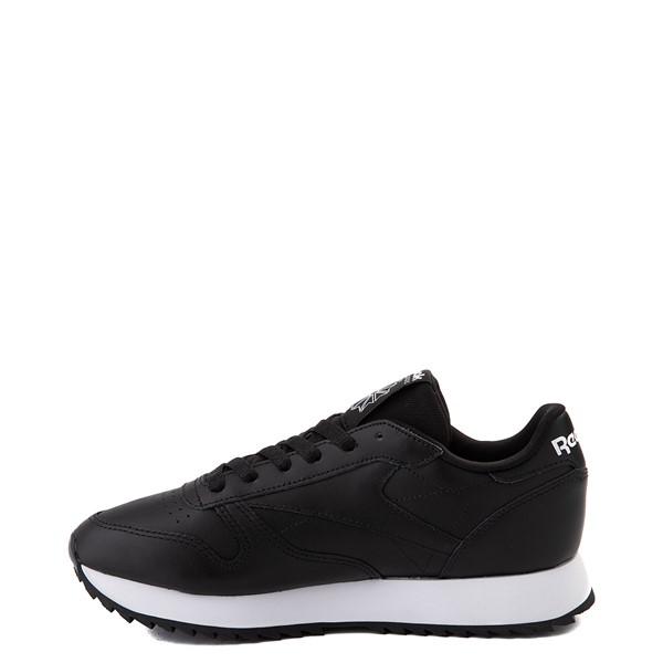 alternate view Womens Reebok Classic Leather Ripple Athletic Shoe - BlackALT1