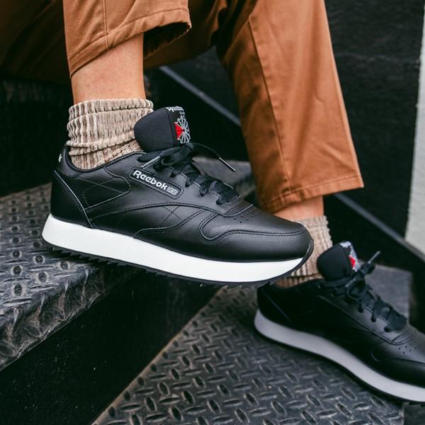 alternate view Womens Reebok Classic Leather Ripple Athletic Shoe - BlackALT1B