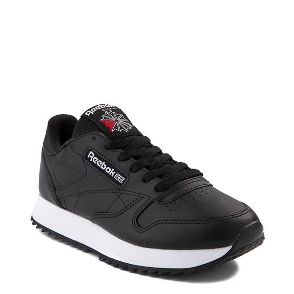 alternate view Womens Reebok Classic Leather Ripple Athletic Shoe - BlackALT5