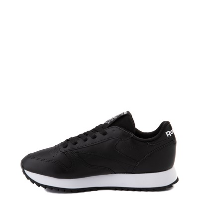 Alternate view of Womens Reebok Classic Leather Ripple Athletic Shoe - Black