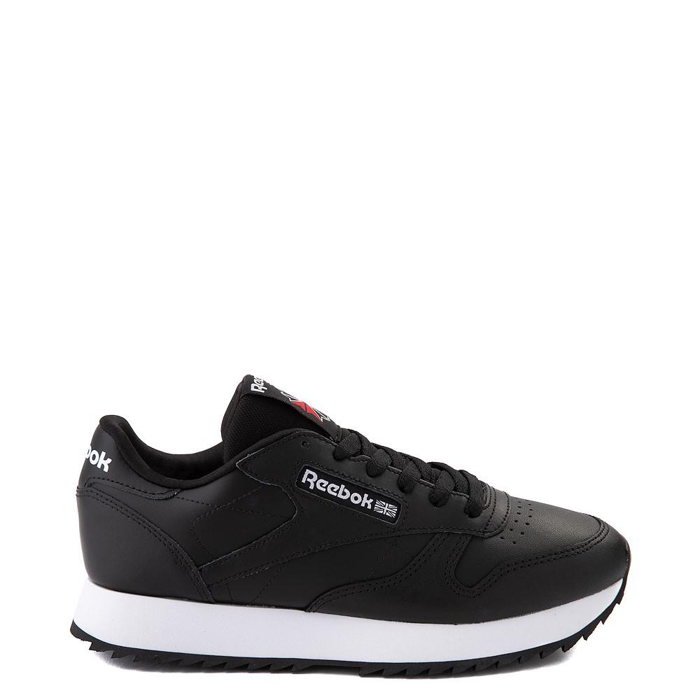Womens Reebok Classic Leather Ripple Athletic Shoe - Black