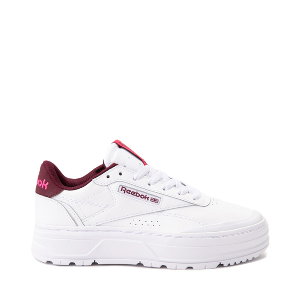 Main view of Womens Reebok Club C Double Geo Athletic Shoe - White / Pink