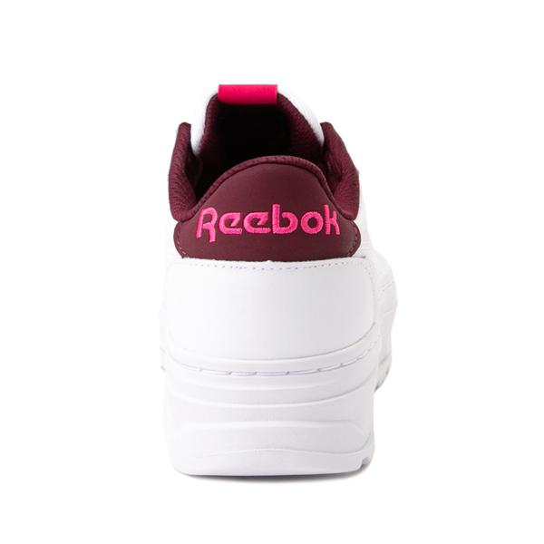 alternate view Womens Reebok Club C Double Geo Athletic Shoe - White / PinkALT4