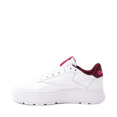Alternate view of Womens Reebok Club C Double Geo Athletic Shoe - White / Pink