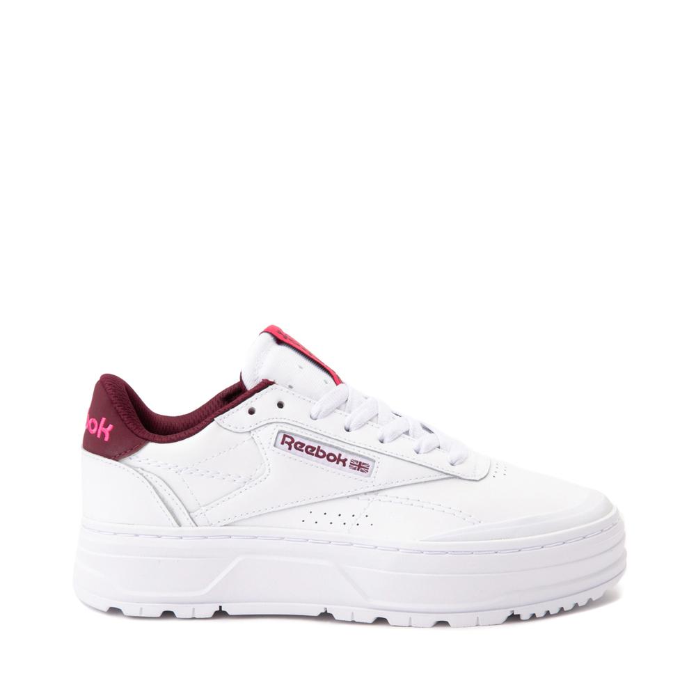 Womens Reebok Club C Double Geo Athletic Shoe - White / Pink