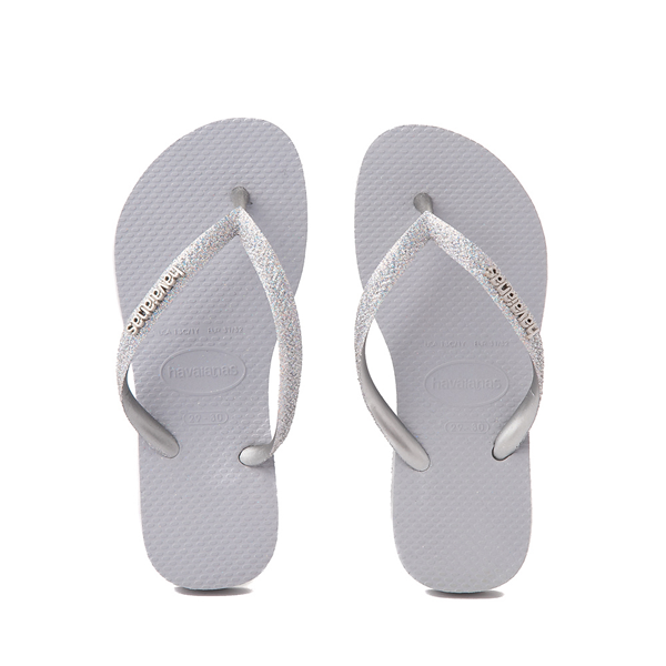 Main view of Havaianas Slim Glitter Sandal - Toddler / Little Kid - Gray