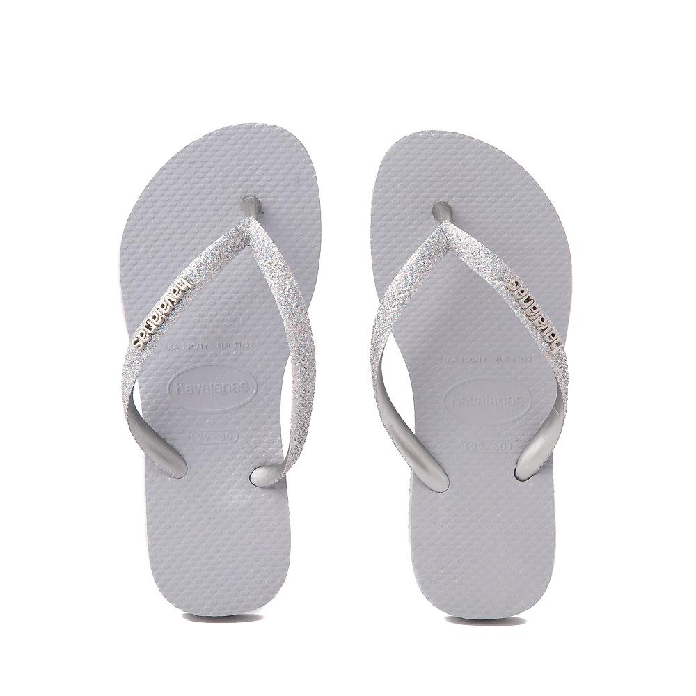 Havaianas Slim Glitter Sandal - Toddler / Little Kid - Gray