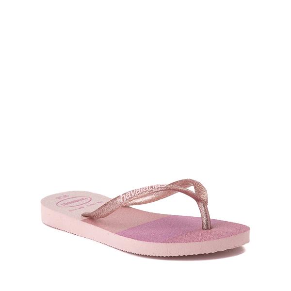 alternate view Havaianas Slim Palette Glow Sandal - Toddler / Little Kid - Candy PinkALT5