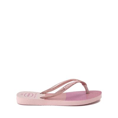 Alternate view of Havaianas Slim Palette Glow Sandal - Toddler / Little Kid - Candy Pink