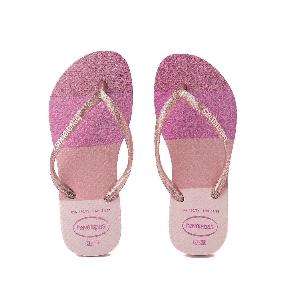 Havaianas Slim Palette Glow Sandal - Toddler / Little Kid - Candy Pink