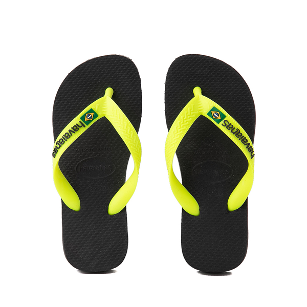 Main view of Havaianas Brazil Logo Sandal - Toddler / Little Kid - New Graphite