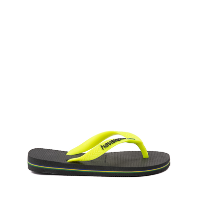 Alternate view of Havaianas Brazil Logo Sandal - Toddler / Little Kid - New Graphite