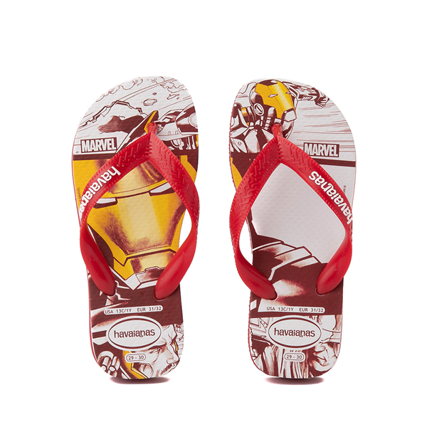 Main view of Havaianas Marvel Iron Man Top Sandal - Toddler / Little Kid - Red