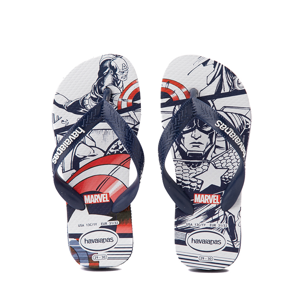 Main view of Havaianas Marvel Captain America Top Sandal - Toddler / Little Kid - Navy
