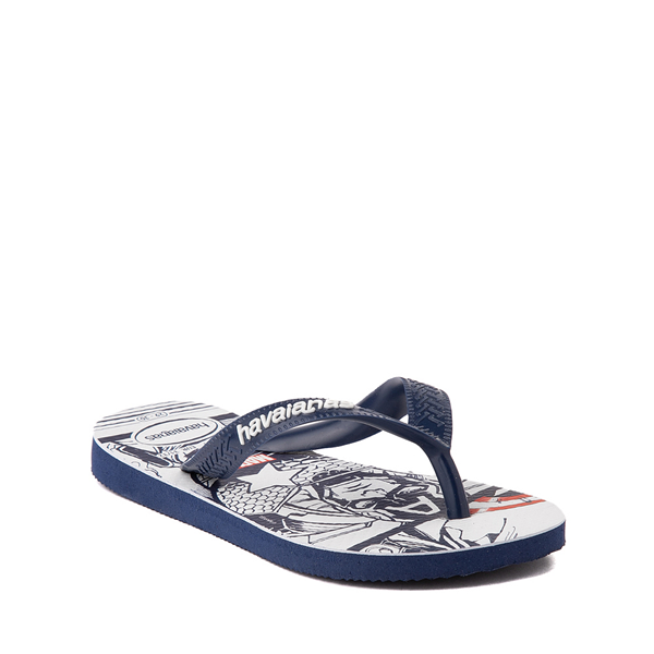 alternate view Havaianas Marvel Captain America Top Sandal - Toddler / Little Kid - NavyALT5