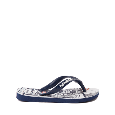 Alternate view of Havaianas Marvel Captain America Top Sandal - Toddler / Little Kid - Navy