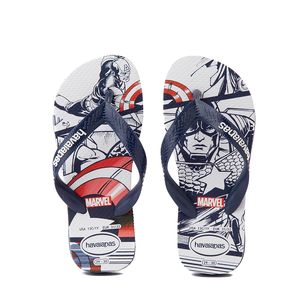 Havaianas Marvel Captain America Top Sandal - Toddler / Little Kid - Navy