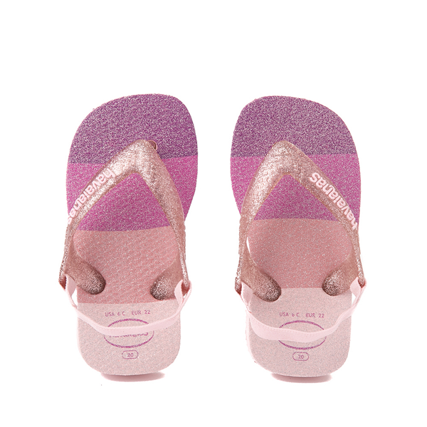 Main view of Havaianas Slim Palette Glow Sandal - Baby / Toddler - Candy Pink