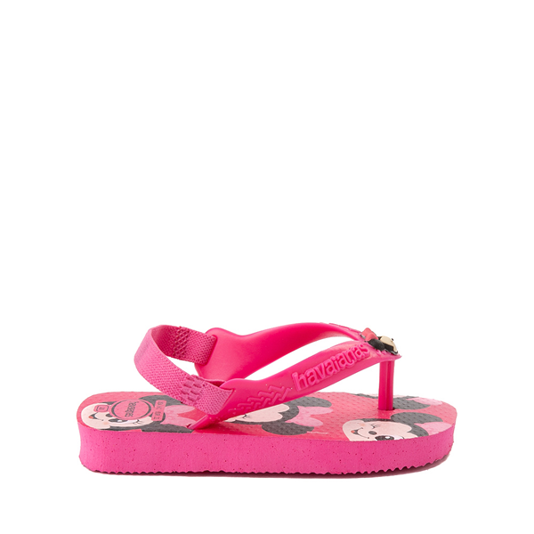 alternate view Havaianas Disney Minnie Mouse Top Sandal - Baby / Toddler - Pink FluxALT1