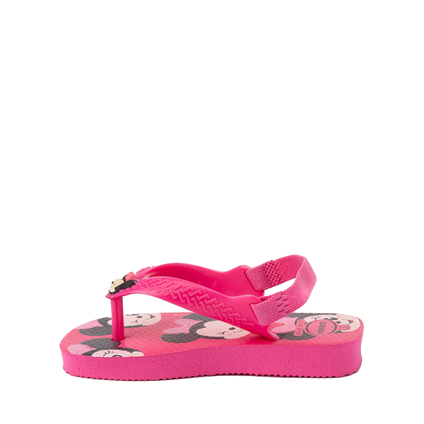 alternate view Havaianas Disney Minnie Mouse Top Sandal - Baby / Toddler - Pink FluxALT1B