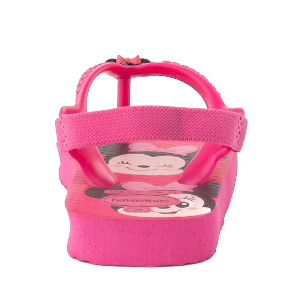alternate view Havaianas Disney Minnie Mouse Top Sandal - Baby / Toddler - Pink FluxALT4