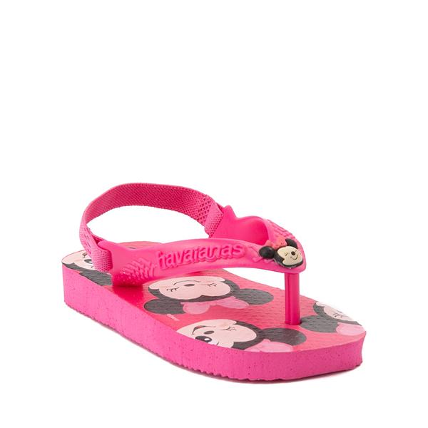 alternate view Havaianas Disney Minnie Mouse Top Sandal - Baby / Toddler - Pink FluxALT5