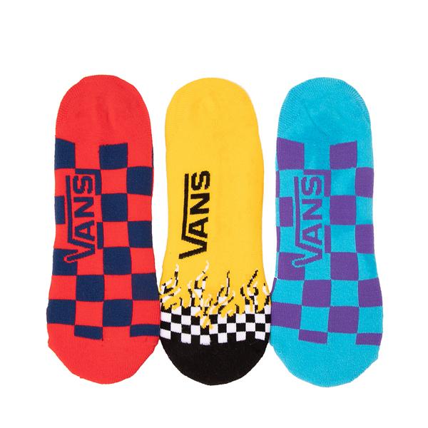 alternate view Mens Vans Checkerboard Flame Liners 3 Pack - MulticolorALT1
