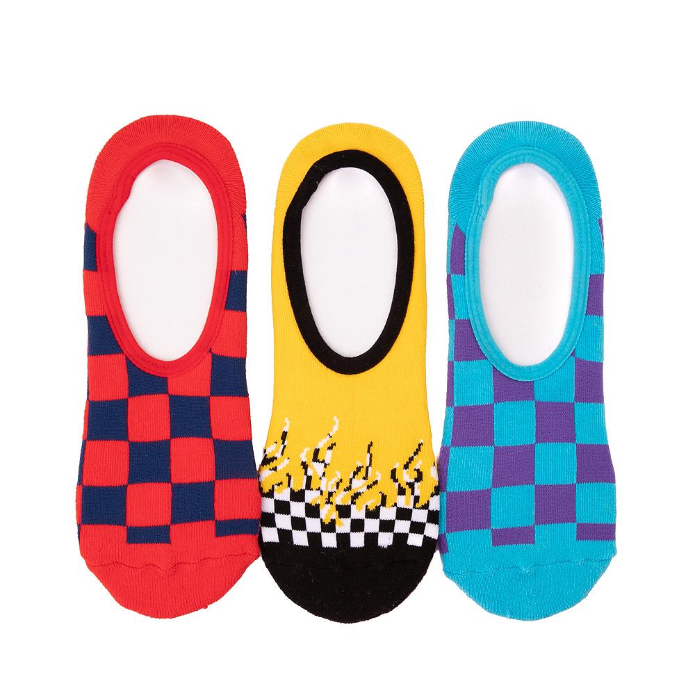 Mens Vans Checkerboard Flame Liners 3 Pack - Multicolor