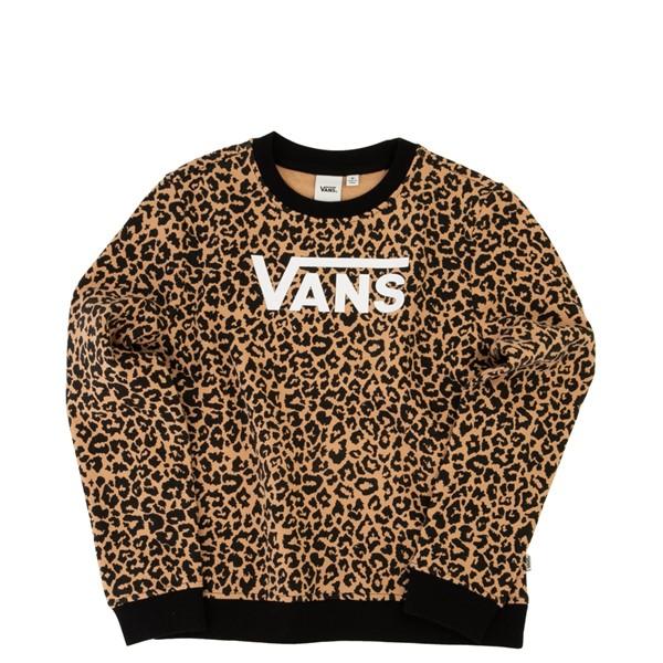 Main view of Vans Leopard Sweatshirt - Little Kid / Big Kid - Black / Leopard
