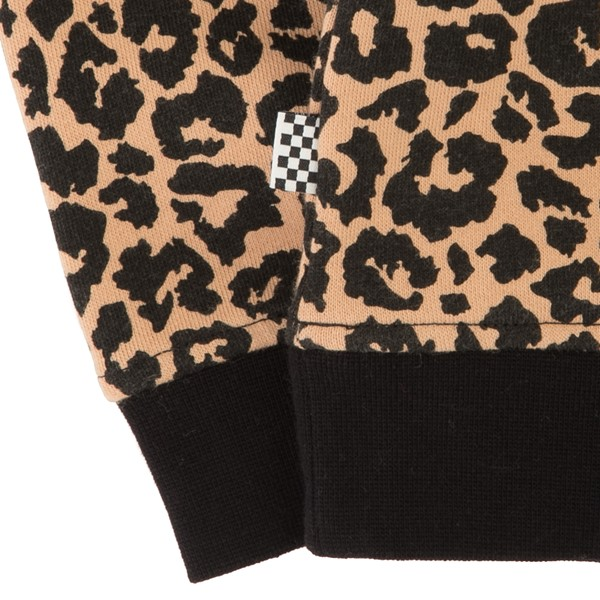alternate view Vans Leopard Sweatshirt - Little Kid / Big Kid - Black / LeopardALT2