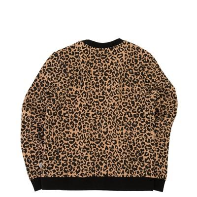 Alternate view of Vans Leopard Sweatshirt - Little Kid / Big Kid - Black / Leopard