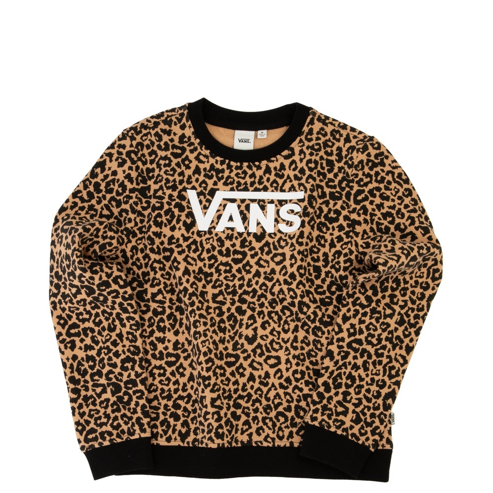 Vans Leopard Sweatshirt - Little Kid / Big Kid - Black / Leopard