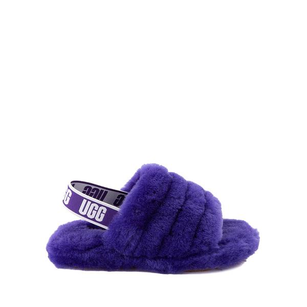 UGG® Fluff Yeah Slide Sandal - Little Kid / Big Kid - Violet Night