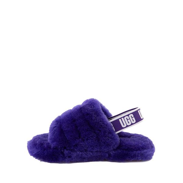 alternate view UGG® Fluff Yeah Slide Sandal - Little Kid / Big Kid - Violet NightALT1