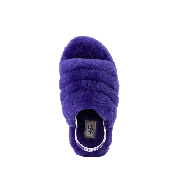 alternate view UGG® Fluff Yeah Slide Sandal - Little Kid / Big Kid - Violet NightALT2