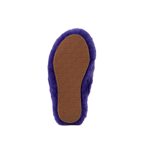 alternate view UGG® Fluff Yeah Slide Sandal - Little Kid / Big Kid - Violet NightALT3