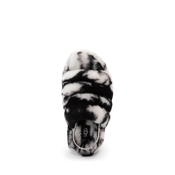 alternate view UGG® Fluff Yeah Slide Sandal - Little Kid / Big Kid - Marbled BlackALT2