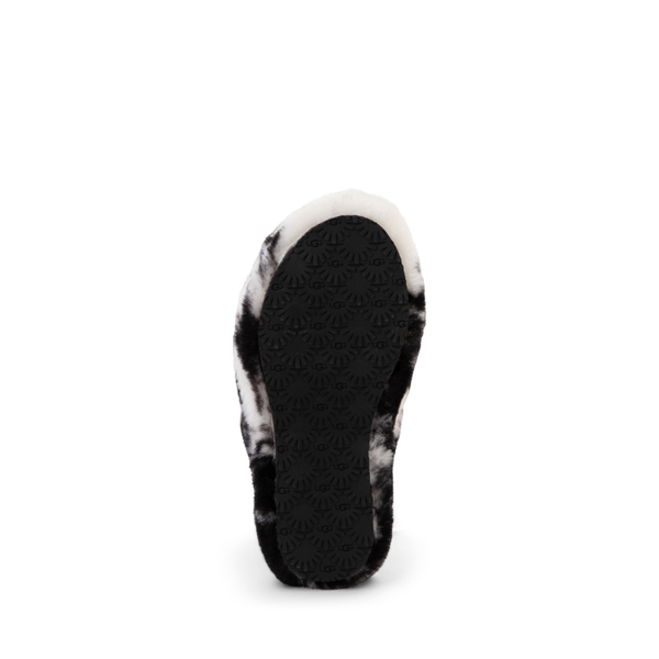 alternate view UGG® Fluff Yeah Slide Sandal - Little Kid / Big Kid - Marbled BlackALT3