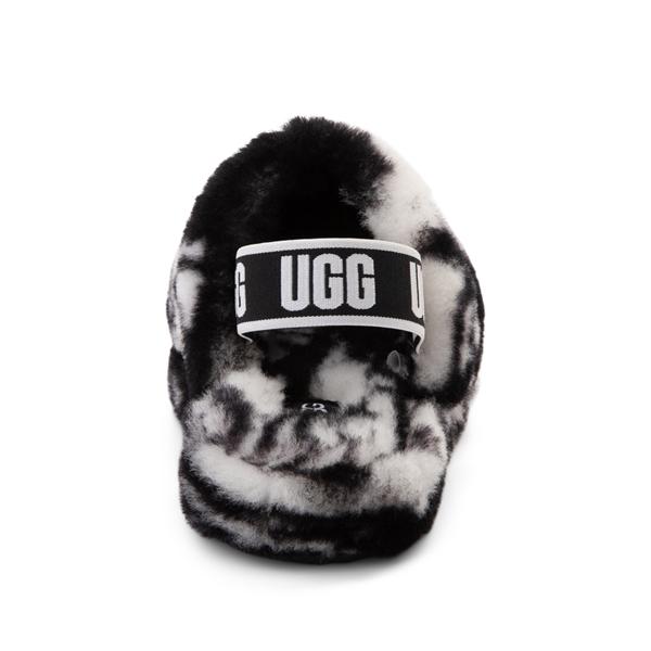 alternate view UGG® Fluff Yeah Slide Sandal - Little Kid / Big Kid - Marbled BlackALT4