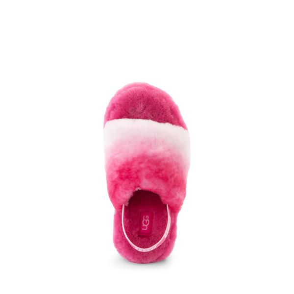 alternate view UGG® Fluff Yeah Slide Sandal - Little Kid / Big Kid - Pink GradientALT2