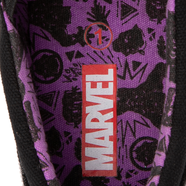 alternate view Ground Up Marvel Black Panther Slip On Sneaker - Little Kid / Big Kid - BlackALT2B