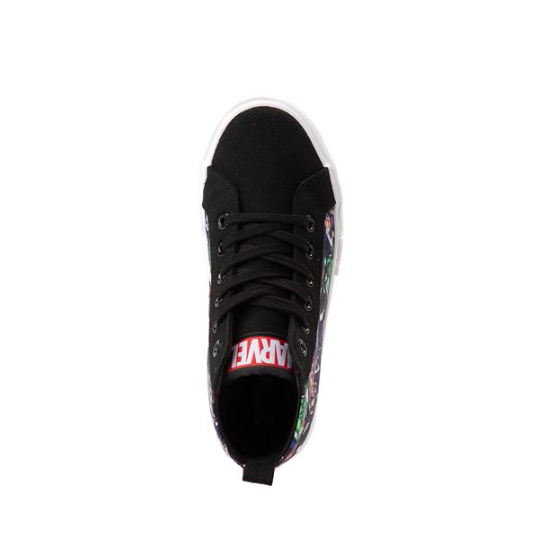 alternate view Ground Up Marvel Avengers Hi Sneaker - Little Kid / Big Kid - BlackALT2