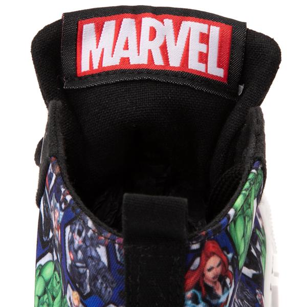 alternate view Ground Up Marvel Avengers Hi Sneaker - Little Kid / Big Kid - BlackALT4C